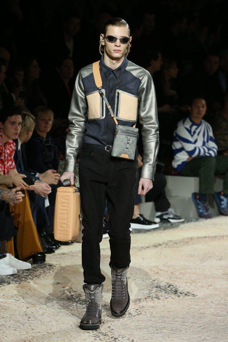 2018秋冬男裝的配件表現亮眼。圖/LV提供