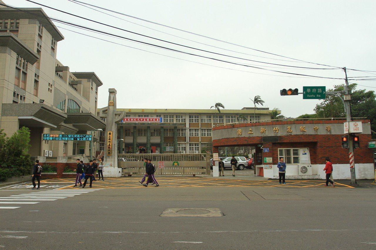 新竹高中昨日校務會議表決通過,從下學期開始廢除朝會。記者郭宣彣/攝影。