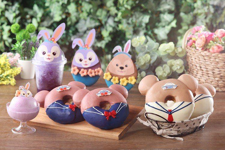 市集餅店將販售達菲與雪莉梅造型的甜甜圈與多款特色甜點。圖/香港迪士尼樂園提供