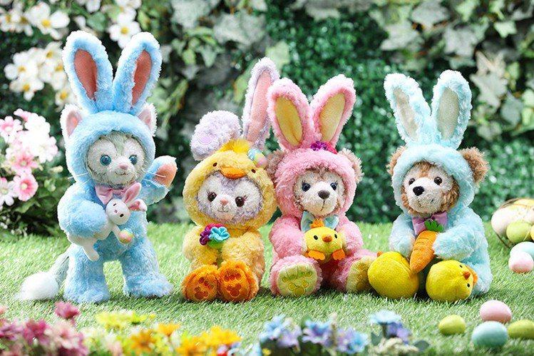 以春裝及復活節造型登場的星黛露、雪莉梅等迪士尼明星。圖/香港迪士尼樂園提供