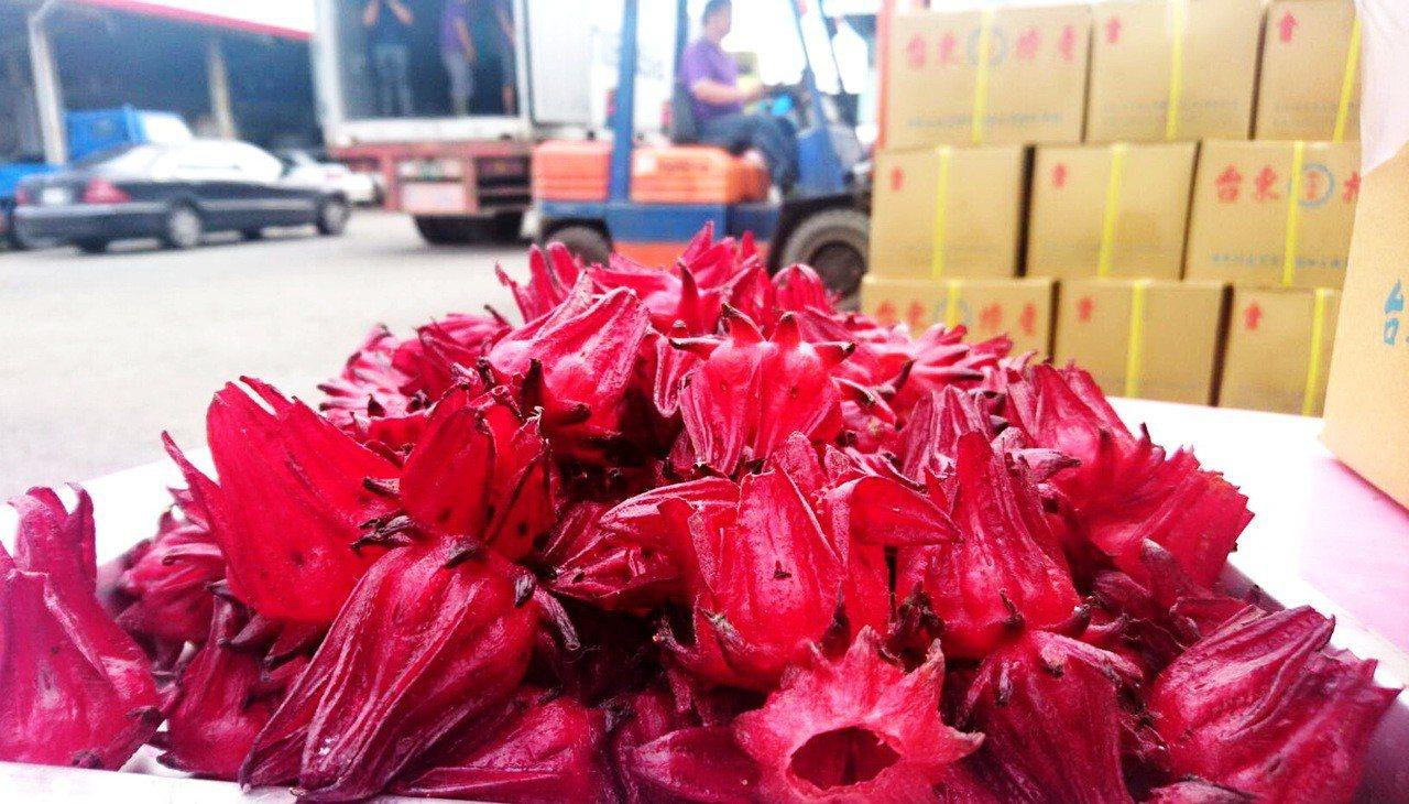 經由台東縣政府居中穿針引線,日本知名食品公司和菓子今年一月擴大採購台東洛神花已逾...