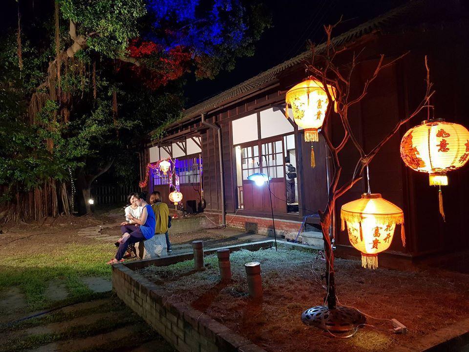 大林火車站舊站長宿舍燈區。圖/三眛堂提供