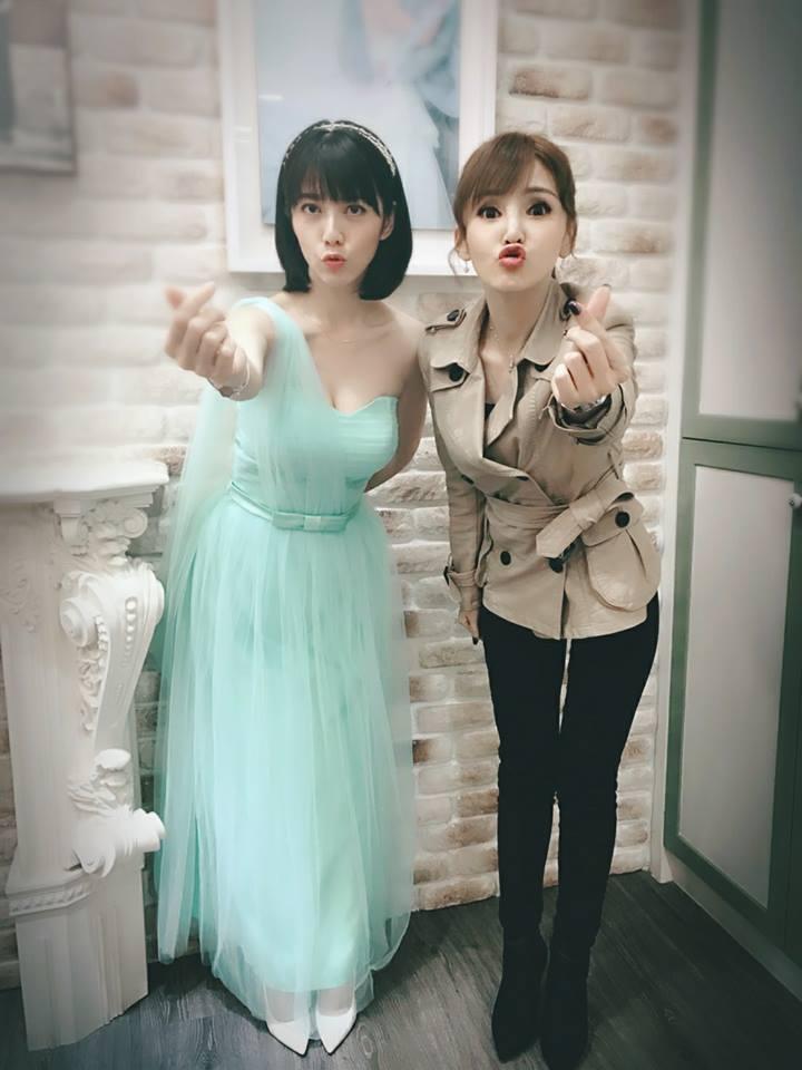 韓瑜(左)人美身材好  圖/摘自臉書