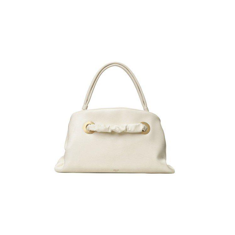 PURSE SMALL純白色小牛皮手提包,售價11萬5,000元。圖/CÉLIN...