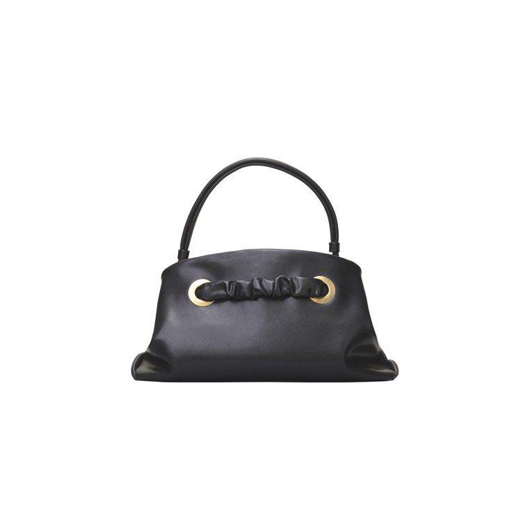 PURSE SMALL黝黑色小牛皮手提包,售價11萬5,000元。圖/CÉLIN...
