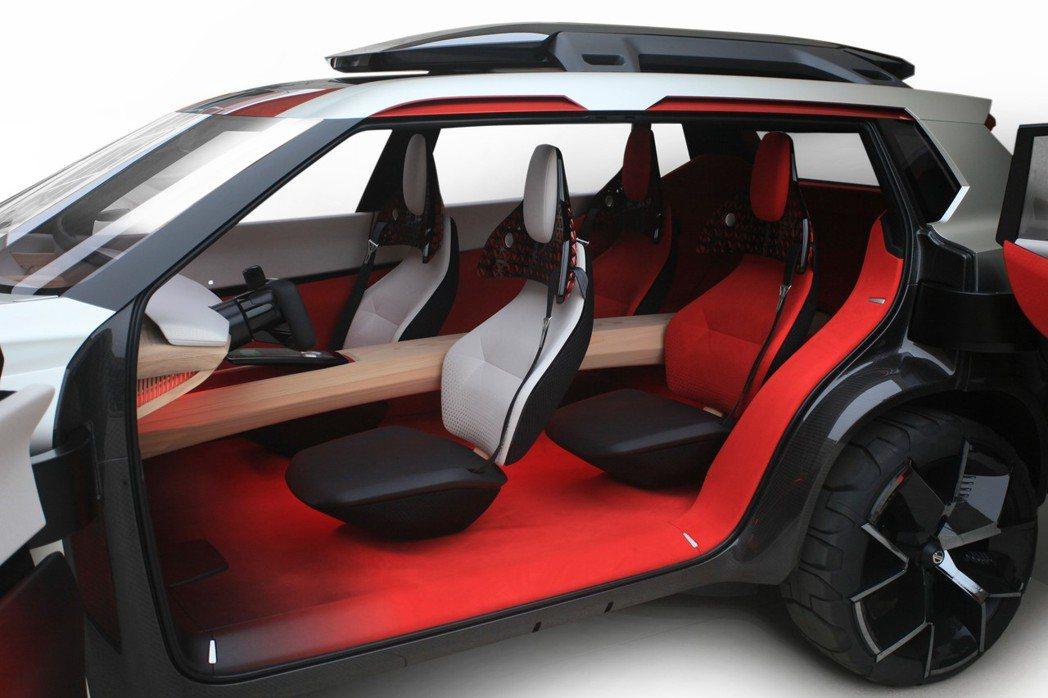 座艙主要以河流與橋梁為設計出發點,並採4+2座設計。 圖片來源:Nissan