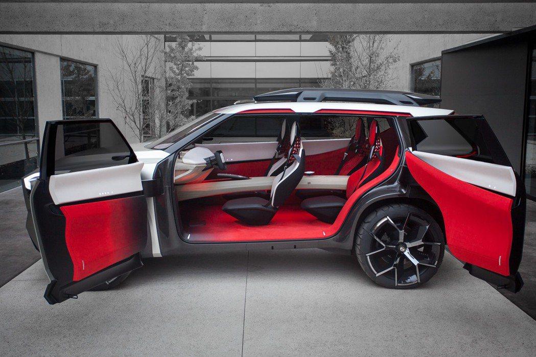 Nissan Xmotion Concept採對開式車門設計,座艙走精緻路線。 ...