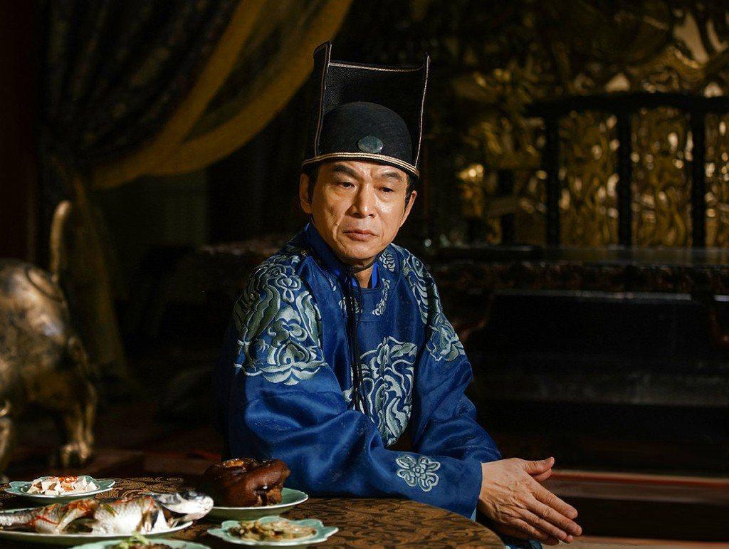 李天柱在「大唐榮耀」中飾演宦官李輔國。圖/東森戲劇台提供