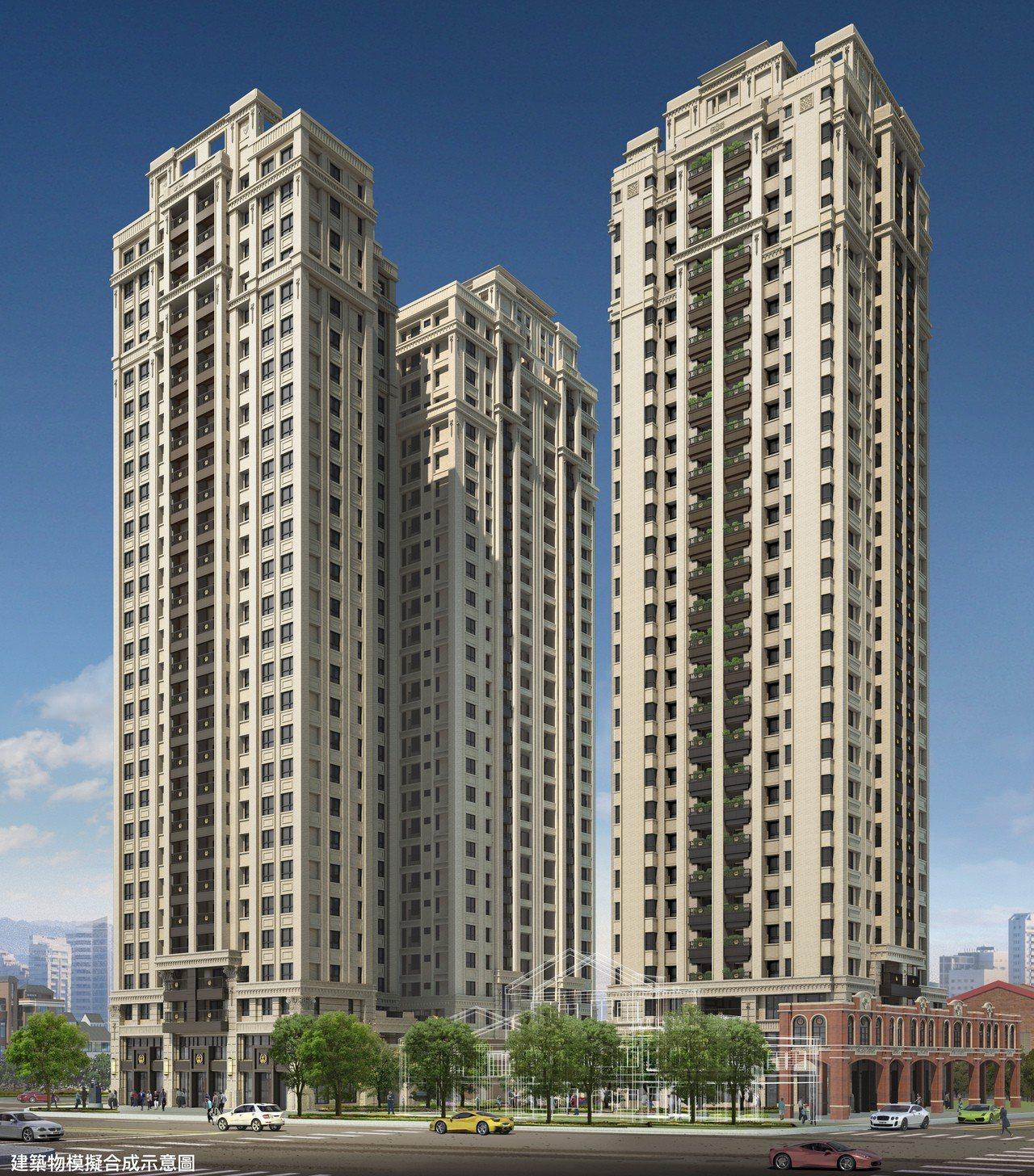 新竹北大路住宅新地標 傳世巨作-興傳全新完工。 業者/提供