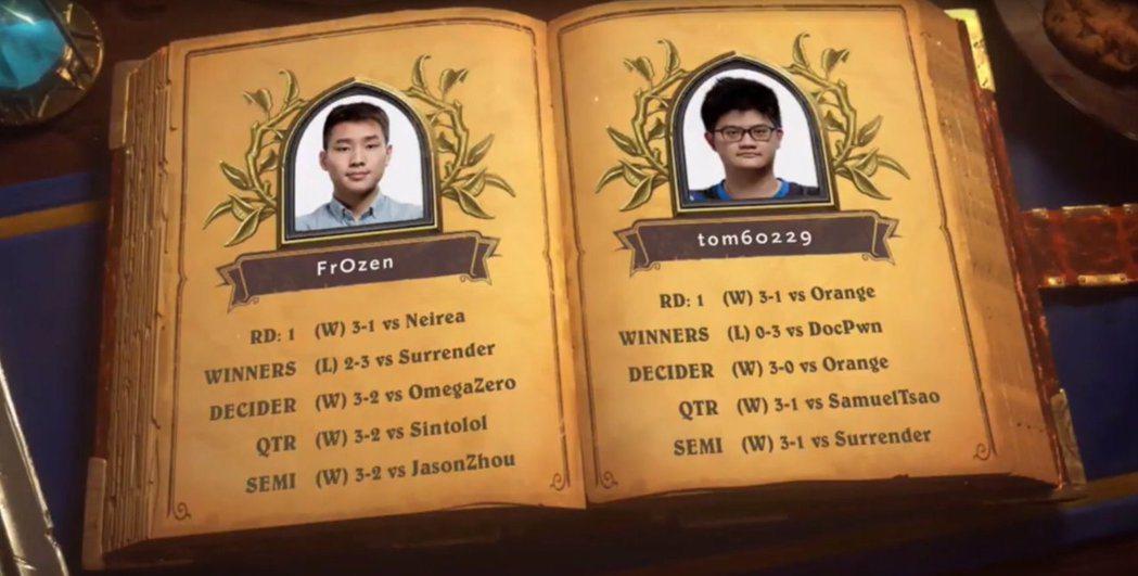 冠軍賽:Fr0zen vs Tom60229,兩人的晉級之路。