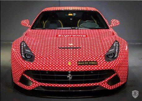 有錢杜拜屁孩玩膩了 LV塗裝的Ferrari F12 上架拍賣