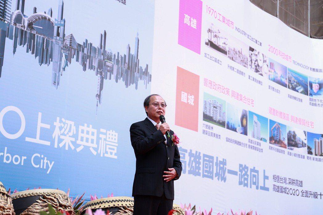 國城建設董事長洪平森表示,國城規劃的每個建案都是「作品」,而不是「商品」。 攝影...