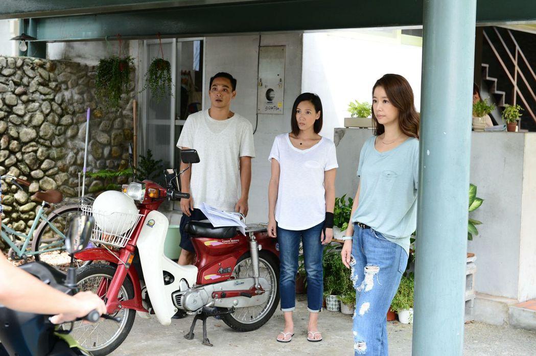 林心如(右)與張本渝在「我的男孩」中是姊妹。圖/八大提供