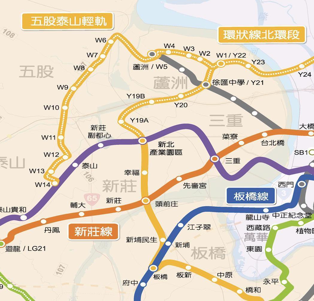 板橋立委張宏陸表示,雖然未來三環三線會串起板橋新莊,但板橋社後地區人口數已近10...