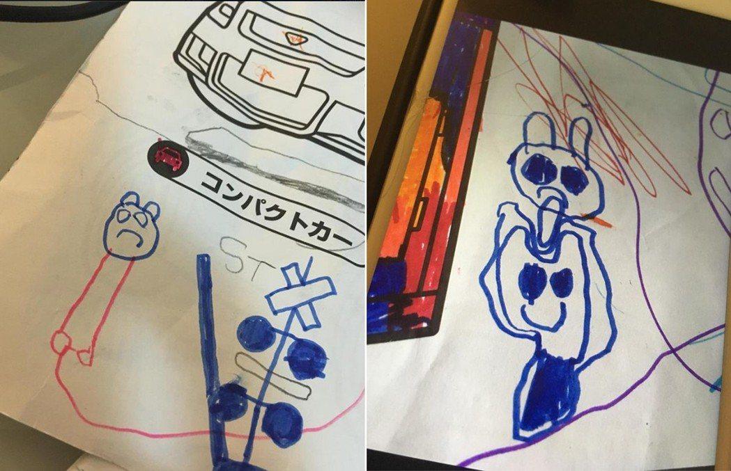 一名家長表示自己5歲兒子畫了兩張詭異的圖,對他說「這個人在家裡」,讓他毛骨悚然。...