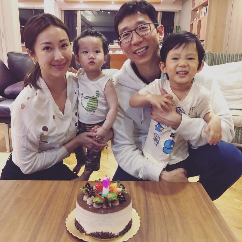 隋棠全家人為女兒Lucy提前慶生。圖/摘自臉書