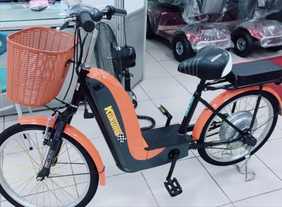 移工以前都騎這型電動輔助自行車。圖/電動車業者黃淑芬提供