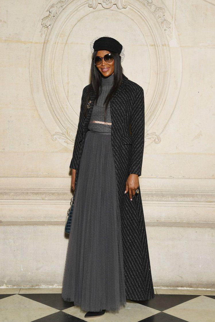 娜歐蜜坎貝爾現身Dior高訂發表。圖/Dior提供