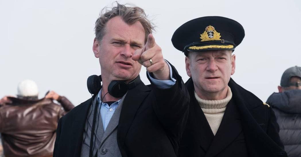 克里斯多夫諾蘭(左)以「敦克爾克大行動」首度提名奧斯卡獎最佳導演。圖/華納兄弟提