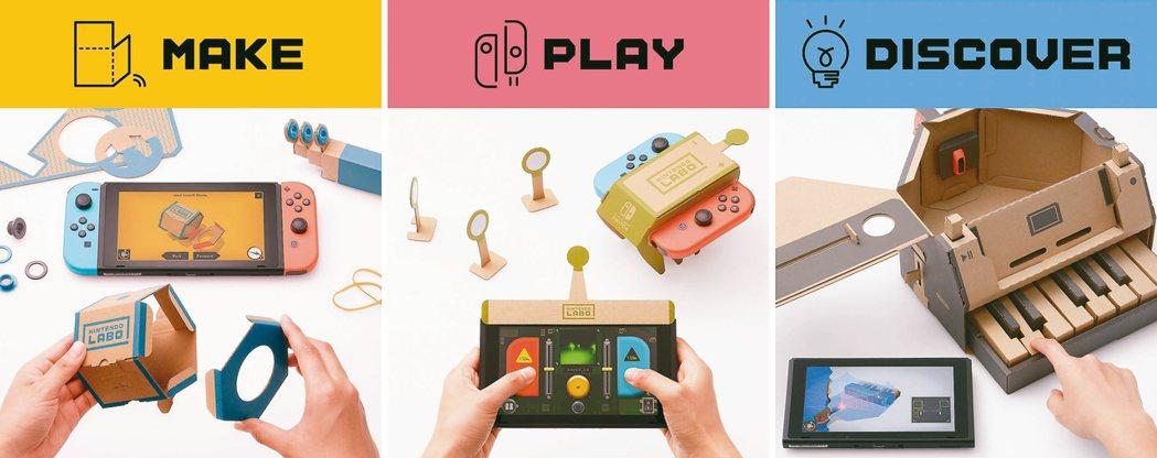 任天堂Labo不只是玩具,更擁有與程式教育接軌的目的。 圖╱董福興提供