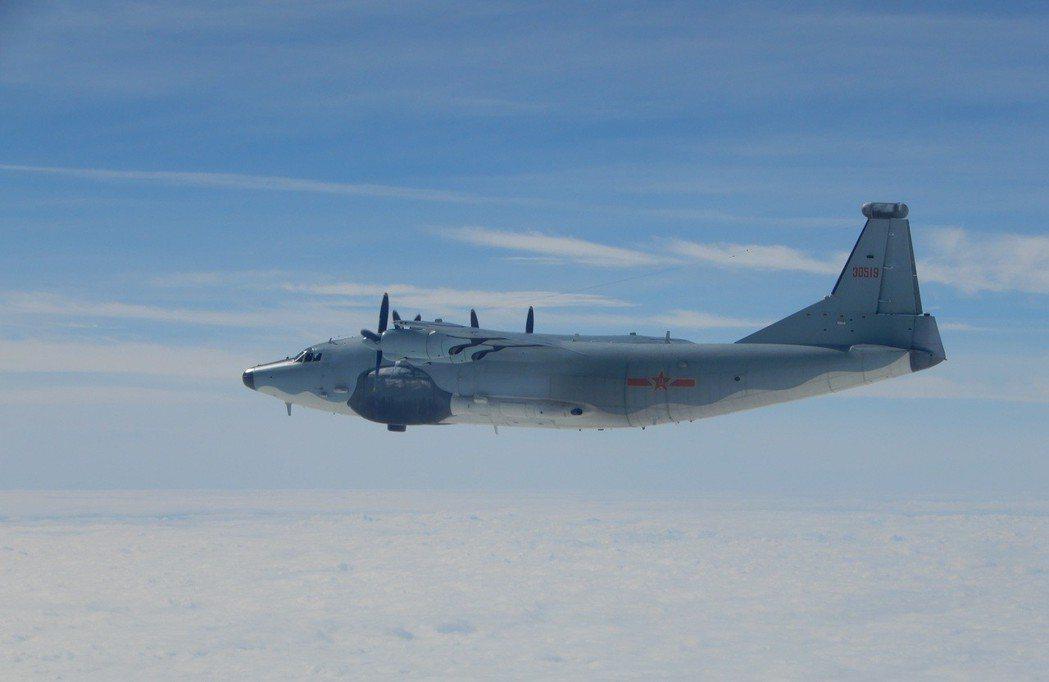 中共空軍運-8遠干型機。 圖/國防部提供