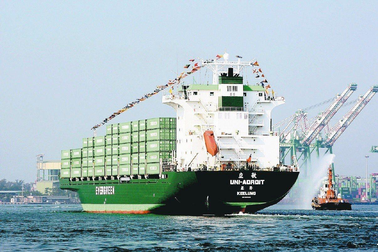 長榮海運上半年營運表現優異。圖/聯合報系資料照片