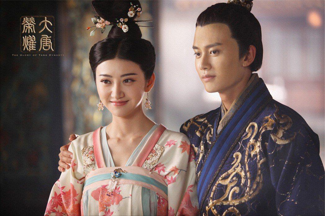 任嘉倫(右)與景甜合作「大唐榮耀」。圖/CHOCO TV提供