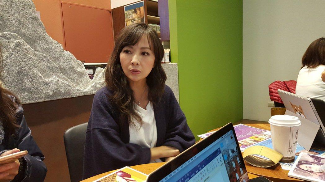 郭昱晴今出面受訪談後藤希美子。記者林怡秀/攝影