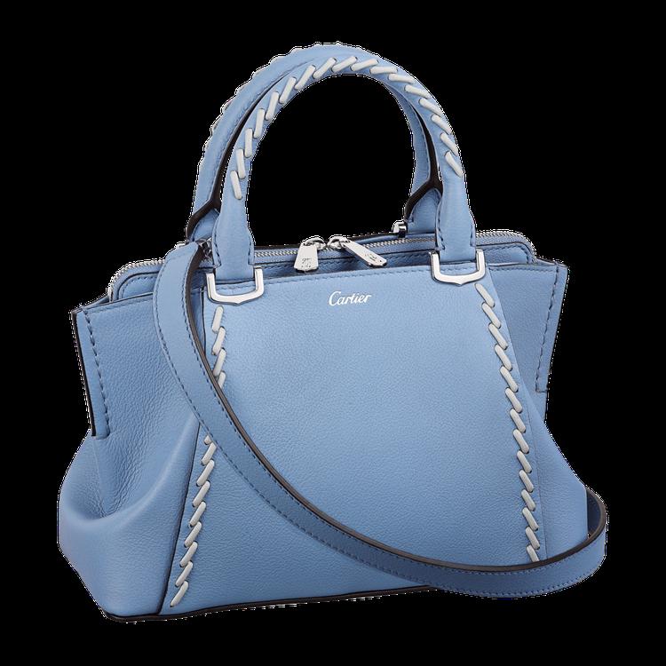 卡地亞 C de Cartier 海水藍寶色迷你手提包限量版,49,700元。圖...