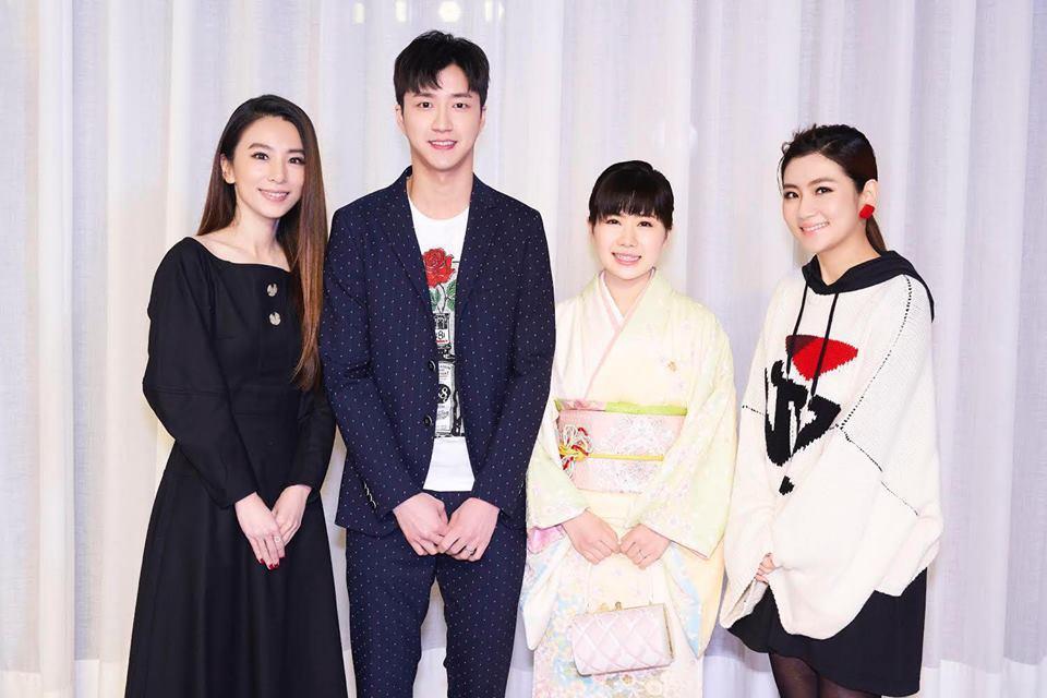 華研日前舉辦尾牙,股東Selina、Hebe與江宏傑福原愛夫婦都來了。圖/華研提