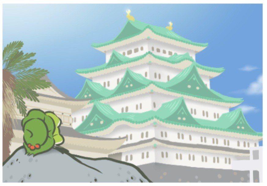 小青蛙出去旅行後,每到一個地方,都會寄回照片讓玩家知道牠在哪裡。 圖/摘在網路