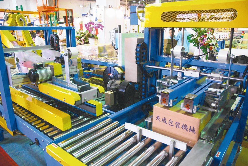 產業包裝需求,已從單機進展到整套系統,每每在展場上,天成包裝以系統模組展出,均受...