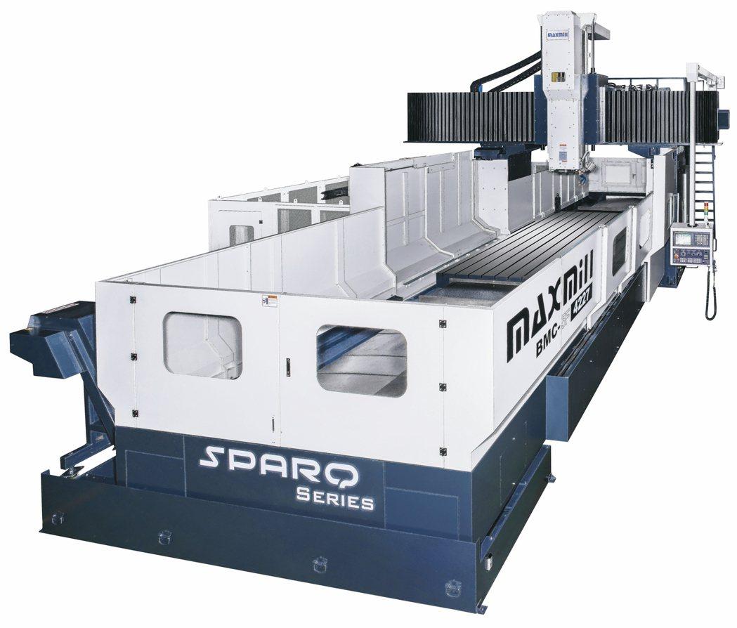 仕元產製的SPARQ系列龍門型加工中心機。 魯修斌/攝影