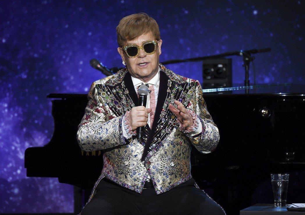 艾爾頓強(Elton John)。 美聯社