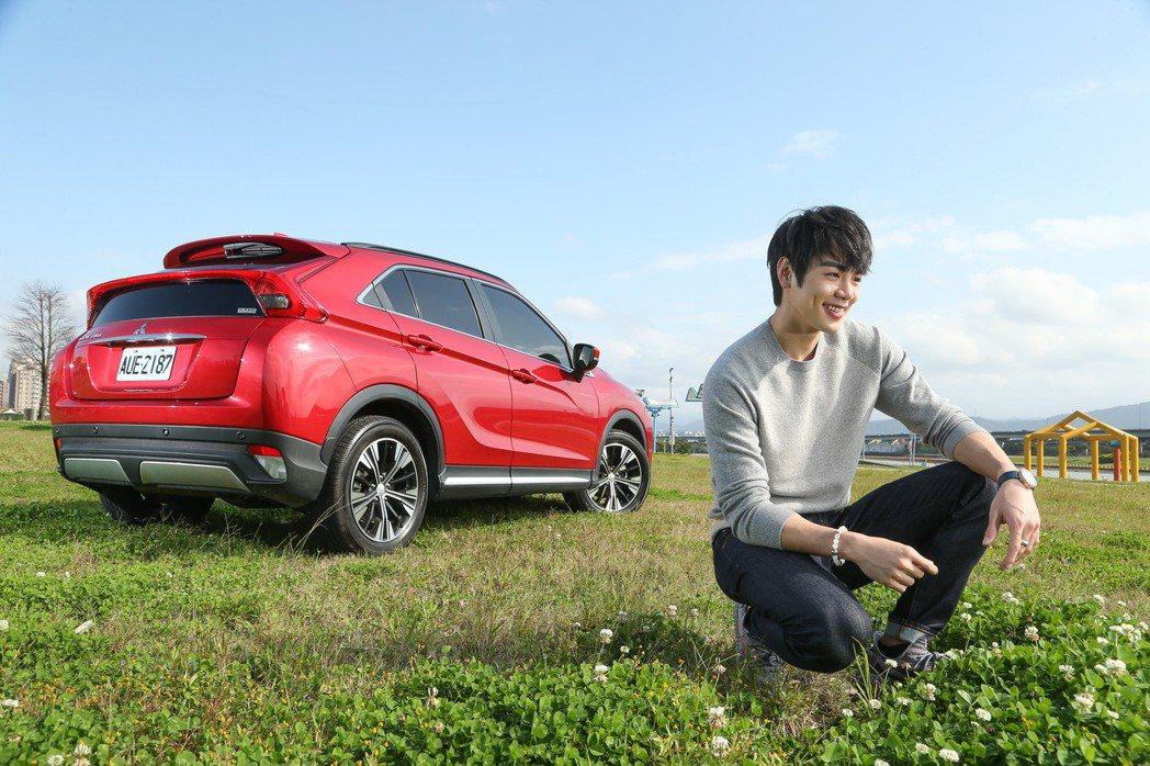 禾浩辰相當喜歡Mitsubishi Eclipse Cross的跑旅外型。 記者陳立凱/攝影