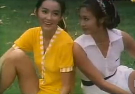林青霞(左)40年前曾接受蕭芳芳(右)的電視節目訪問。圖/翻攝自土豆