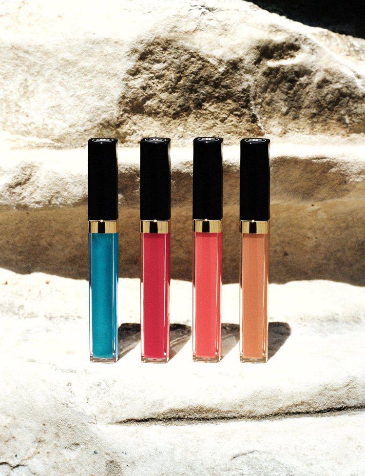 香奈兒COCO水晶糖光透唇釉,各1,150元。本季高級訂製大秀中使用的是左二#7...