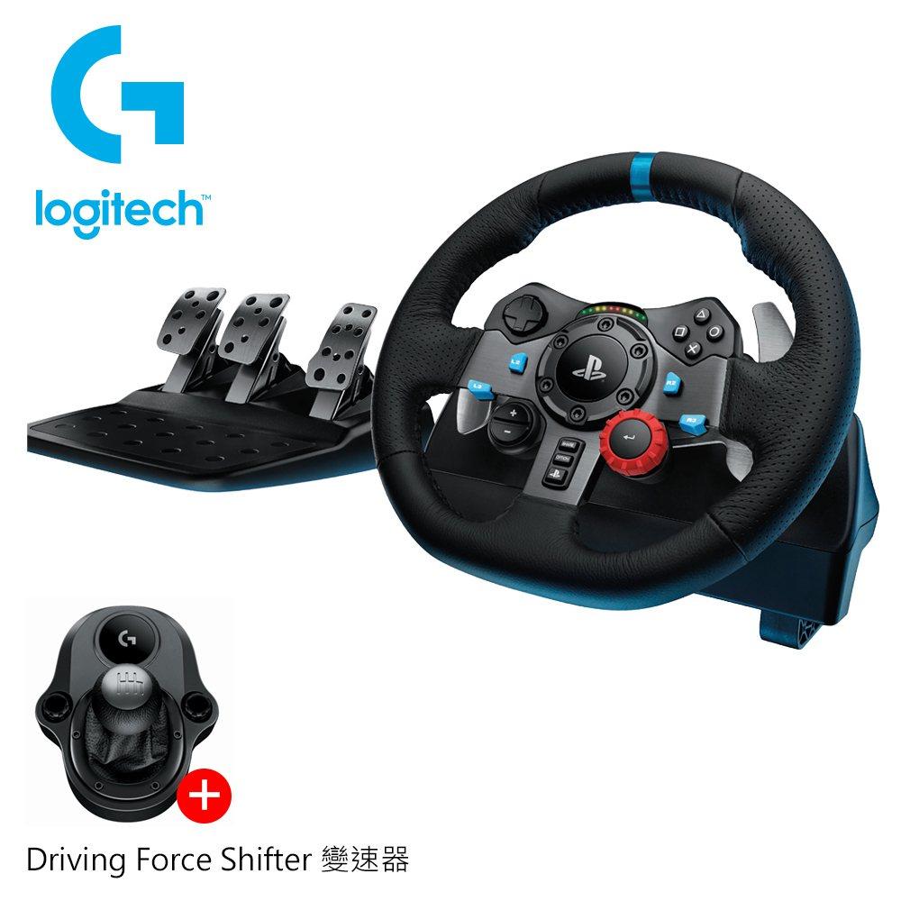 logitech g29賽車標的目的盤(送driving force shifter...