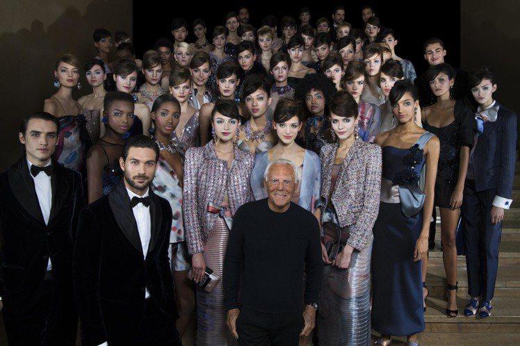亞曼尼高級訂製服以浮雲變化為主題。圖/ Giorgio Armani提供