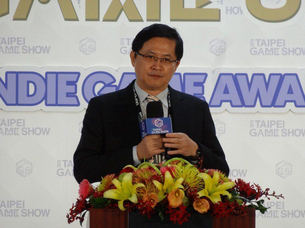 台北市電腦公會理事長童子賢。記者蕭君暉/攝影