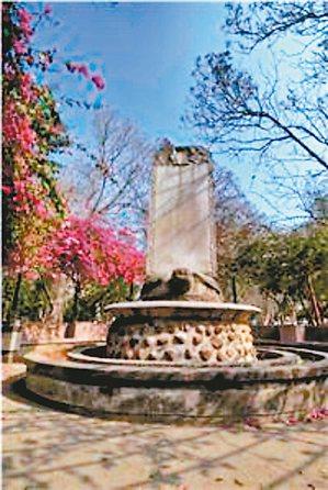 福康安在嘉義公園的紀功碑。 圖╱嘉義市觀光旅遊網提供