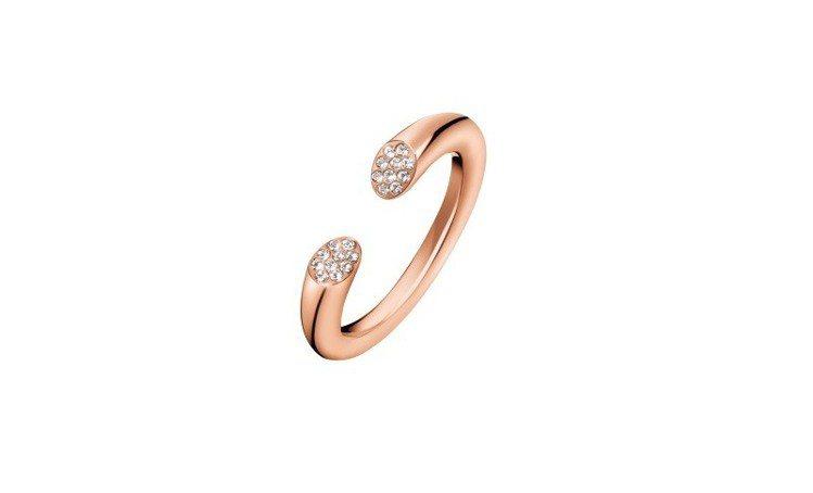 Brilliant 系列戒指,2,600元。圖/CALVIN KLEIN wat...