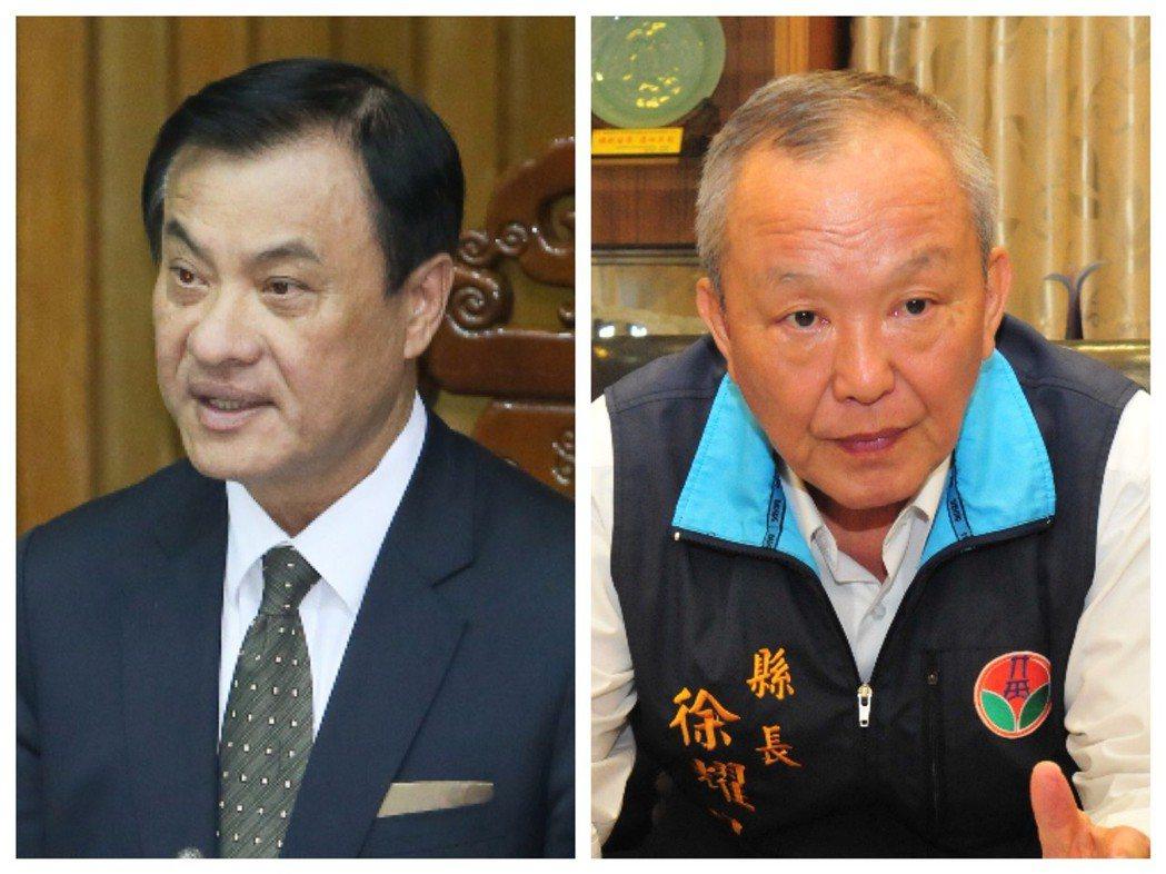 行政院長蘇嘉全(左)與苗栗縣長徐耀昌。 圖/聯合報系資料照片