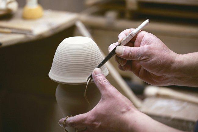 朝日燒製陶手工細緻。圖/森CASA提供 王騰毅/攝影