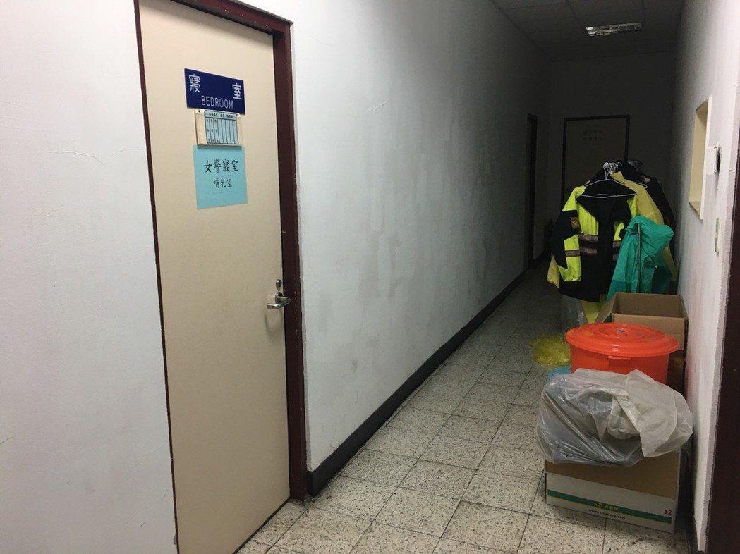 松山分局三民派出所女警寢室位於地下室,還充當洽公民眾臨時所需的哺乳室。 台北...