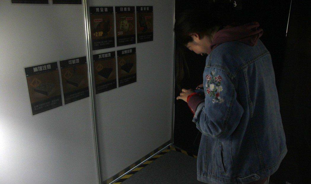 《Going Down》於電玩展首度曝光,並提供玩家試玩。 攝影/余峯