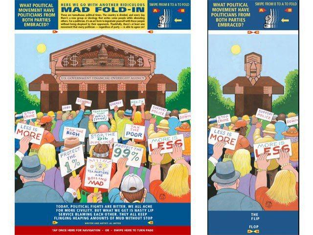 「Mad Magazine」雜誌中每期都會有的「Mad Fold-in」書頁設計...