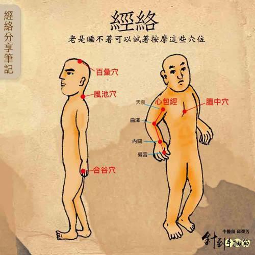 圖取自針到手抽筋 中醫師邱榮芳臉書