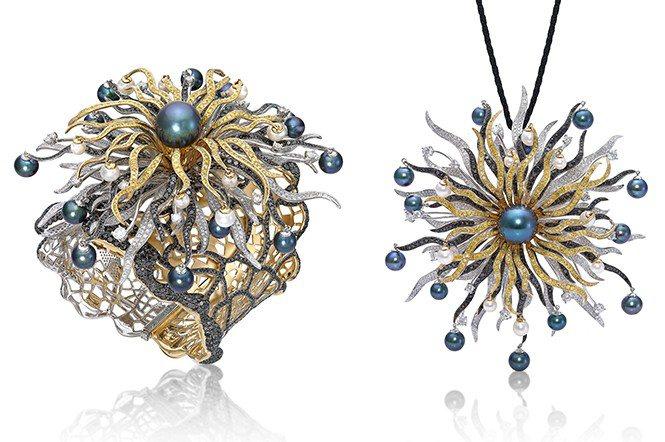必得利珠寶有限公司,林麗英小姐設計,最佳工藝獎及公開組II優異獎作品《陽光.大地...