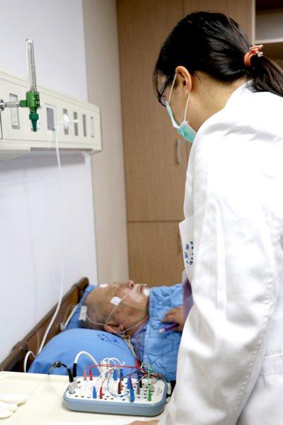 羅東博愛醫院睡眠檢查(示意圖,非新聞中當事人)。圖/羅東博愛醫院提供